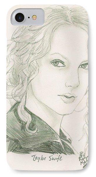 Taylor Swift IPhone 7 Case by Renee Kilburn