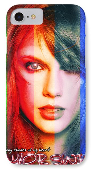 Taylor Swift - Sparks Alt Version IPhone 7 Case by Robert Radmore