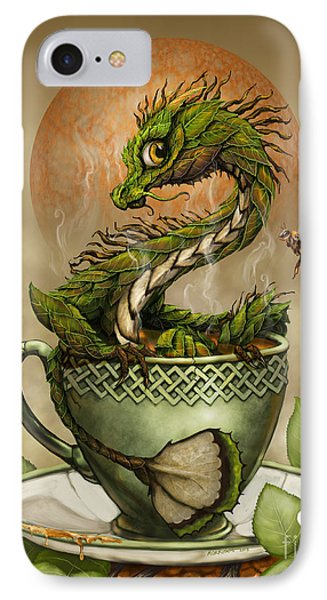 Tea Dragon IPhone Case by Stanley Morrison