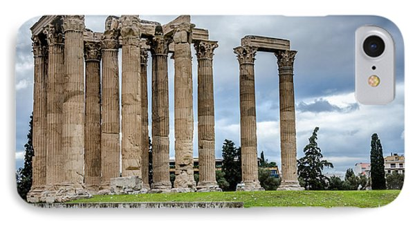 Temple Of Zeus - Athens Greece 2 IPhone Case by Debra Martz