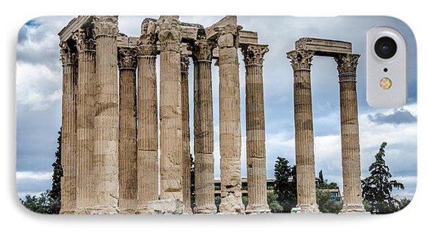 Temple Of Zeus - Athens Greece IPhone Case by Debra Martz