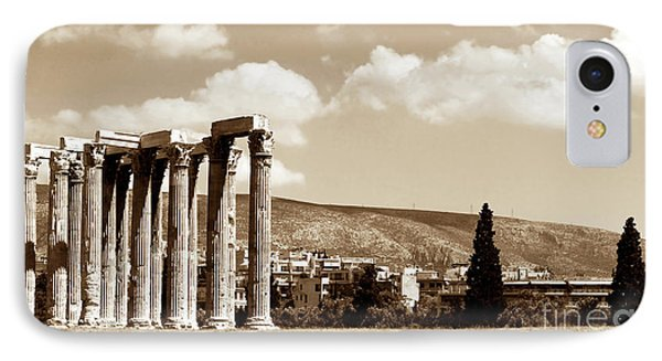Temple Of Zeus IPhone Case by John Rizzuto