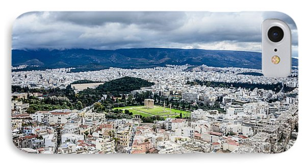 Temple Of Zeus - View From The Acropolis IPhone Case by Debra Martz
