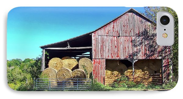 Tennessee Hay Barn Phone Case by Richard Gregurich
