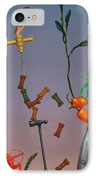 Tenuous Still-life 3 IPhone Case by James W Johnson