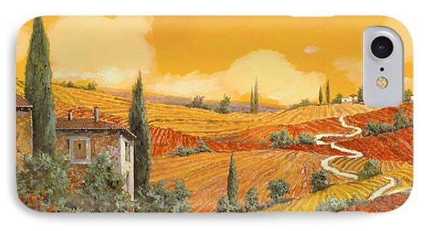terra di Siena IPhone Case by Guido Borelli