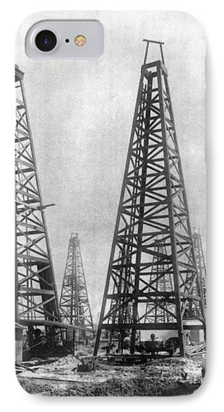 Texas: Oil Derricks, C1901 IPhone Case by Granger