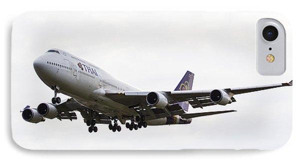 Thai Airways Boeing 747 IPhone Case by David Pyatt