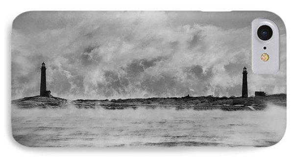 Thatcher Island Twin Lights - Rockport Ma IPhone Case by Joann Vitali