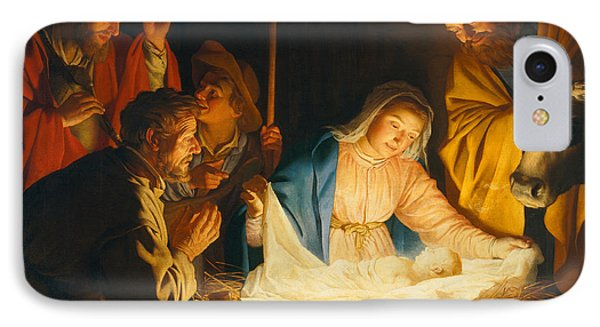 The Adoration Of The Shepherds IPhone Case by Gerrit van Honthorst