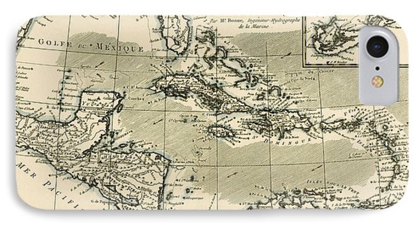 The Antilles And The Gulf Of Mexico Phone Case by Guillaume Raynal