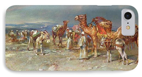 The Arab Caravan   IPhone Case by Italian School
