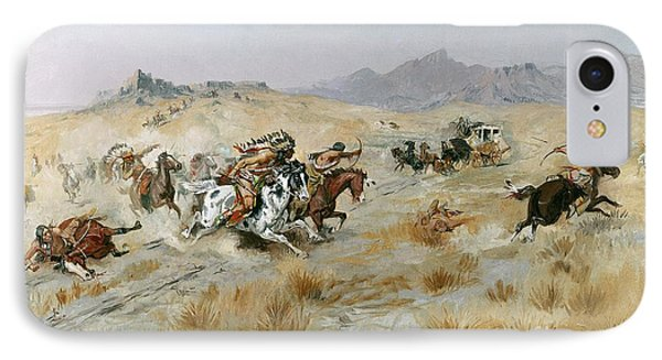 The Attack IPhone Case by Charles Marion Russell