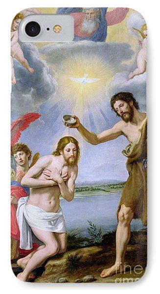 The Baptism Of Christ IPhone Case by Ottavio Vannini
