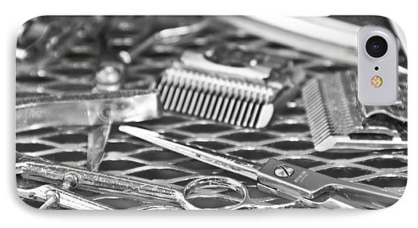 The Barber Shop 10 Bw Phone Case by Angelina Vick