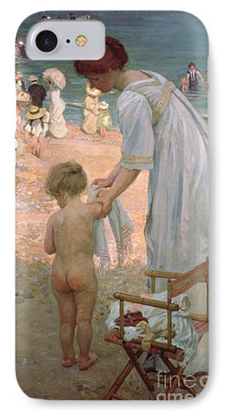 The Bathing Hour  IPhone Case by Emmanuel Phillips Fox