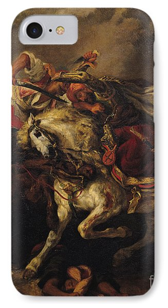The Battle Of Giaour And Hassan IPhone Case by Ferdinand Victor Eugene Delacroix