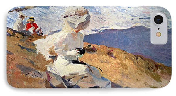The Beach At Biarritz Phone Case by Joaquin Sorolla