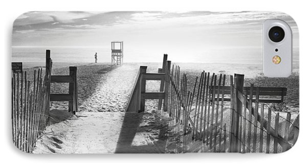 The Beach In Black And White IPhone Case by Dapixara Art