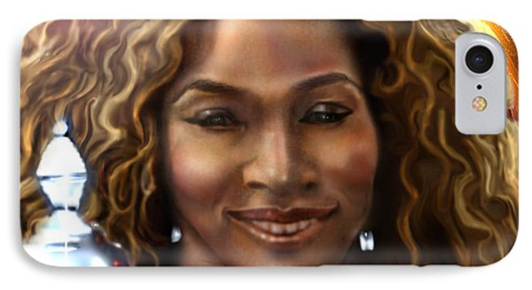 The Beauty Victory That Is Serena IPhone Case by Reggie Duffie