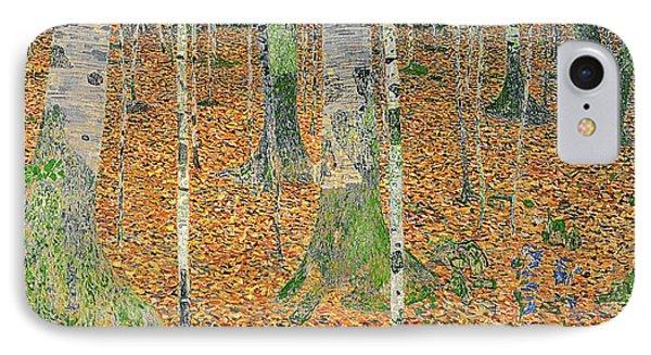 The Birch Wood IPhone Case by Gustav Klimt