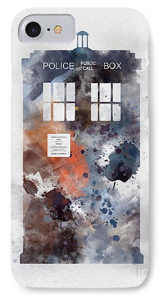 The Blue Box IPhone Case by Rebecca Jenkins