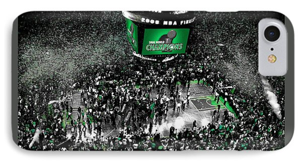 The Boston Celtics 2008 Nba Finals IPhone Case by Brian Reaves