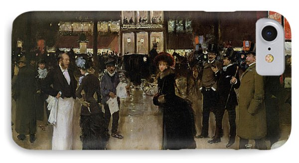 The Boulevard At Night IPhone Case by Jean Beraud
