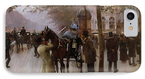 The Boulevards IPhone Case by Jean Beraud