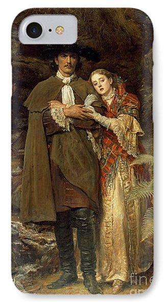 The Bride Of Lammermoor Phone Case by Sir John Everett Millais