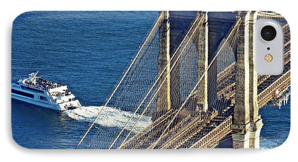 The Brooklyn Bridge Manhattan Side IPhone Case by Sarah Loft