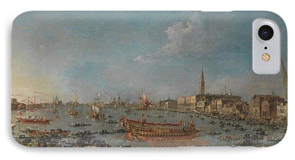 The Bucintoro Festival Of Venice IPhone Case by Francesco Guardi