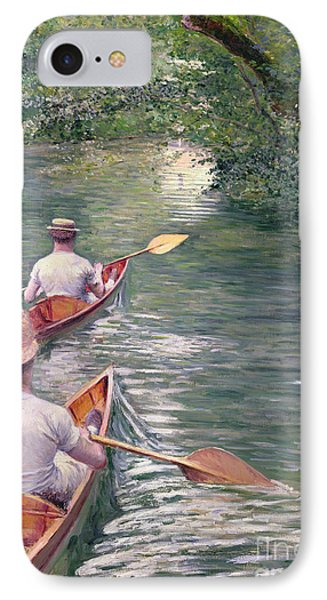The Canoes Phone Case by Gustave Caillebotte