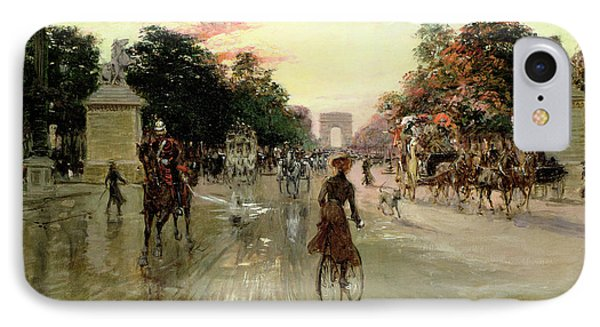 The Champs Elysees - Paris IPhone Case by Georges Stein