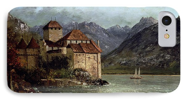 The Chateau De Chillon IPhone Case by Gustave Courbet