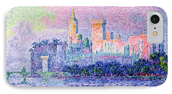 The Chateau Des Papes IPhone Case by Paul Signac