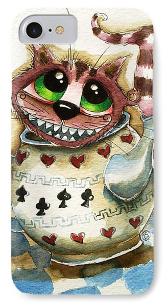The Cheshire Cat - In A Teapot Phone Case by Lucia Stewart