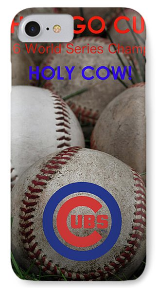 The Chicago Cubs - Holy Cow IPhone Case by David Patterson