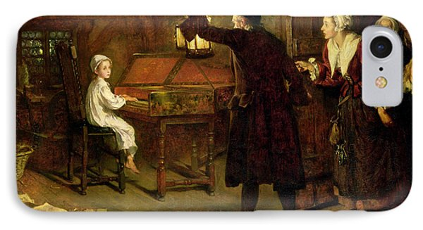 The Child Handel Discovered By His Parents IPhone Case by Margaret Isabel Dicksee