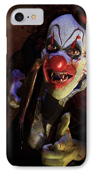 The Clown Phone Case by Mary Hood