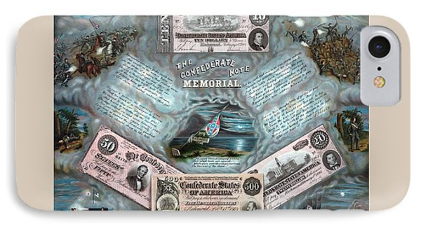 The Confederate Note Memorial  Phone Case by War Is Hell Store