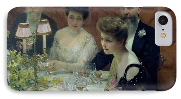 The Corner Of The Table Phone Case by Paul Chabas