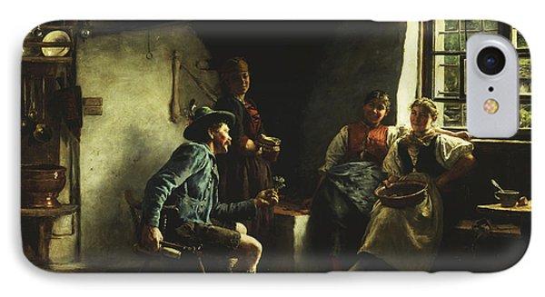 The Courtship IPhone Case by Emil Karl Rau