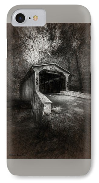 The Covered Bridge IPhone Case by Marvin Spates