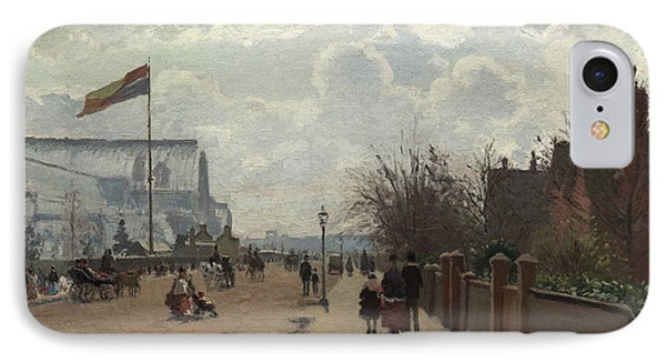 The Crystal Palace IPhone Case by Camille Pissarro