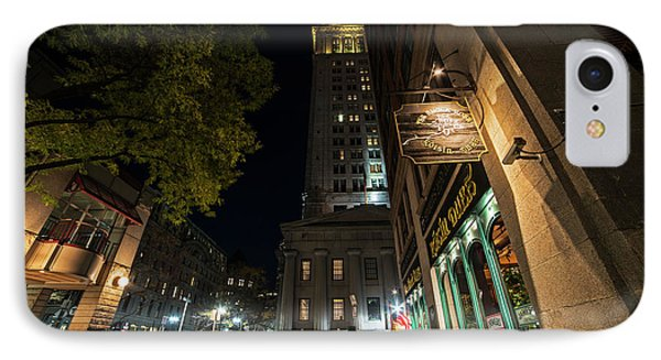 The Custom House Over The Black Rose Boston Ma IPhone Case by Toby McGuire