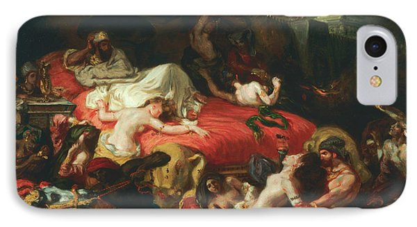 The Death Of Sardanapalus IPhone Case by Eugene Delacroix