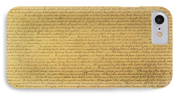 The Declaration Of Independence IPhone Case by Founding Fathers