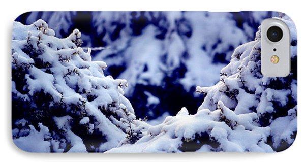 The Deep Blue - Winter Wonderland In Switzerland IPhone Case by Susanne Van Hulst