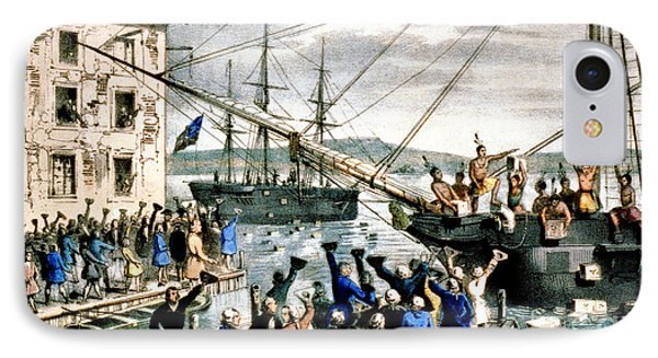 The Destruction Of Tea At Boston IPhone Case by Photo Researchers